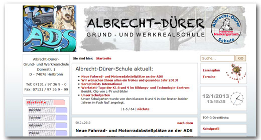 Website: Albrecht-Dürer-Schule, Heilbronn