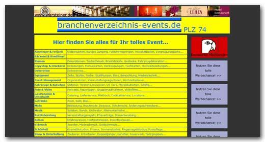 Website: Branchenverzeichnis - Events