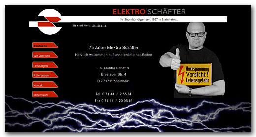 Website: Fa. Elektro Schäfter, Steinheim