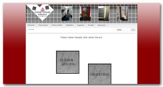 Website: Fliesen Atelier Häusele, Heilbronn