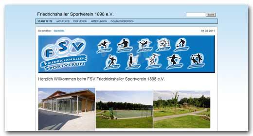Website: Friedrichshaller Sportverein 1898 e.V.
