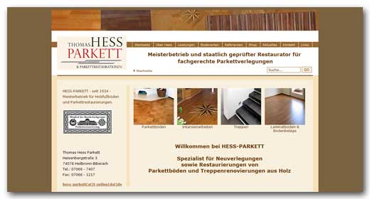 Website:  Thomas Hess Parkett, Heilbronn