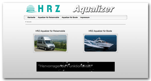 Website: HRZ Aqualizer, Öhringen