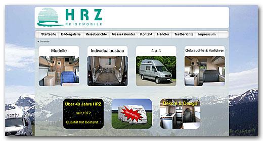 Website: HRZ Reisemobile GmbH, Öhringen
