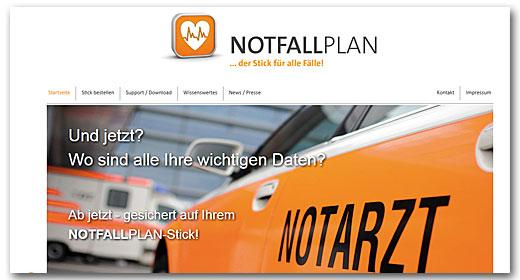 Website: Notfallplan, Rescon Consultants GmbH & Co. KG, Neckarsulm