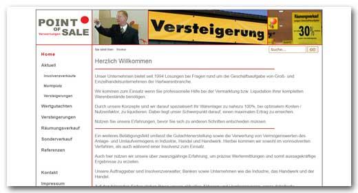 Website:  Point of Sale, Ilsfeld