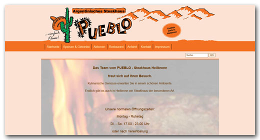 Website: Pueblo Steakhaus, Heilbronn