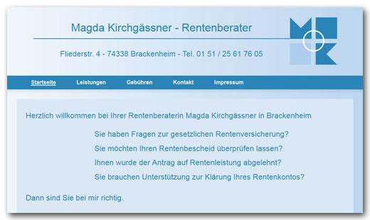 Website: Rentenberatung Heilbronn