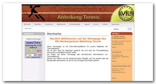 Website: VfL Neckargartach, Abt. Tennis